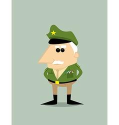 Cartoon military general vector