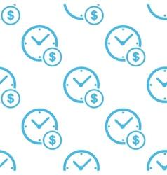 Clock money white pattern vector