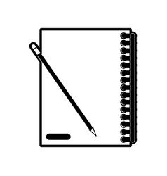 closed notebook with pencil icon image vector image vector image