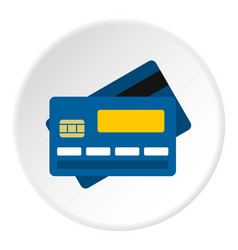 Credit card icon circle vector