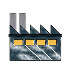 drawing building industrial business ecology vector image