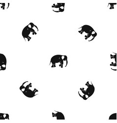 Elephant pattern seamless black vector