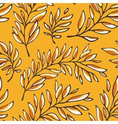 Floral seamless pattern with outline branches vector image