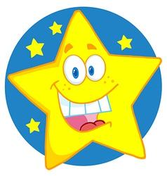 Happy star vector