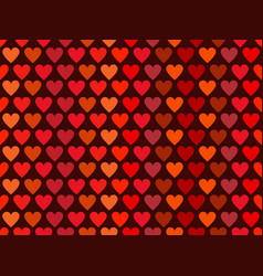hearts seamless pattern in red tones happy vector image