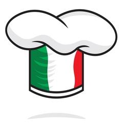 Italian chef hat vector image vector image