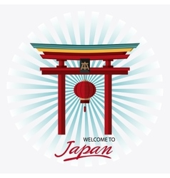 Japan culture and landmark design vector