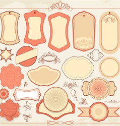 labels red 380 vector image vector image
