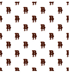 Letter b from latin alphabet made of chocolate vector