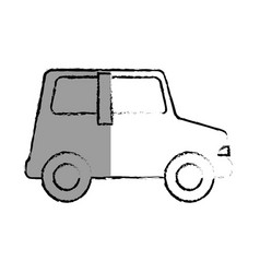 little car toy icon vector image