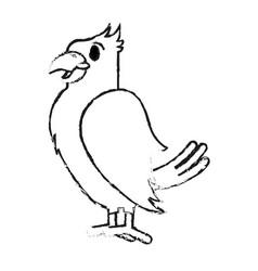 Monochrome blurred silhouette of cartoon eagle vector