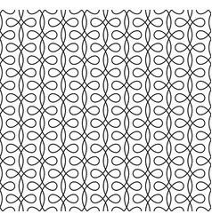 Monocrome seamless linear flourish pattern for vector