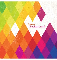 retro rhombus background vector image