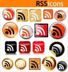 rss icons vector image