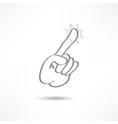 touch finger vector image