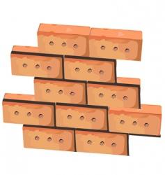 wall from bricks vector image