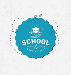 Welcome back to school badge vector