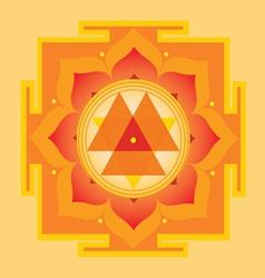 Sacred Geometry Durga yantra vector image