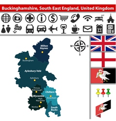 Buckinghamshire south east england vector