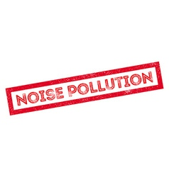 Noise pollution rubber stamp vector