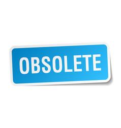 Obsolete square sticker on white vector