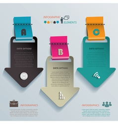 Modern template business infographics with arrows vector image
