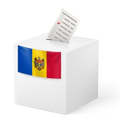 Ballot box with voting paper moldova vector