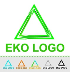 Eco logo for organization or business vector