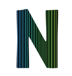 letter N vector image
