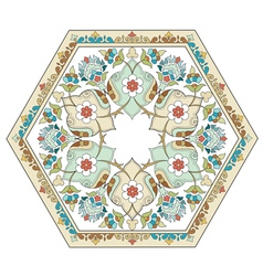 Artistic ottoman pattern series four vector