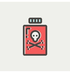 Bottle of poison thin line icon vector
