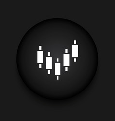 Modern binary options black circle icon vector