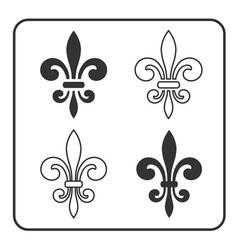 Fleur de lis symbol set vector