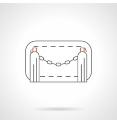 Chain barrier flat line icon vector