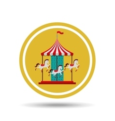 Carousel horses isolated icon design vector