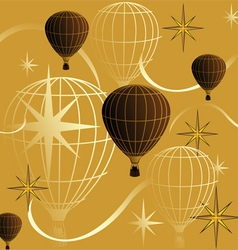 Seamless background journey in a balloon vector