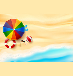 abstract background top view of sand and sea vector image vector image