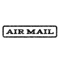 air mail watermark stamp vector image