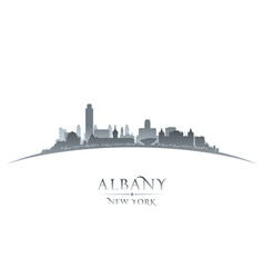 Albany new york city skyline silhouette vector