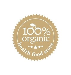 Badge in retro style for ecologically pure food vector image vector image