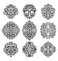 Baroque elements vector