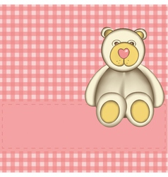 bear for baby girl vector image