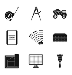 Building tools icons set simple style vector