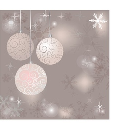 Christmas card with holiday elements vector image vector image