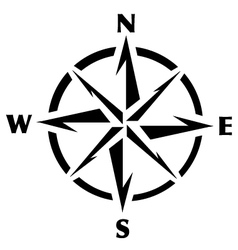 Compass rose graphic vector