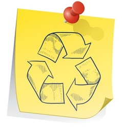 doodle sticky note recycle vector image vector image