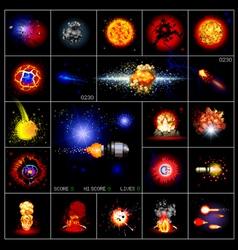 explosions pixels vector image vector image