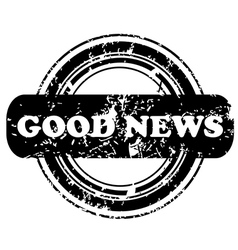 Good news stamp vector image vector image