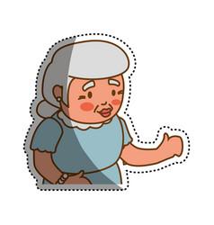 grandmother elder cartoon vector image vector image