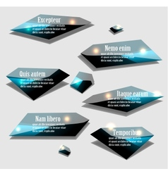 Labels set vector image vector image